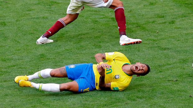 Neymar has spent a lot of time on the turf