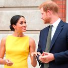Prince Harry, Duke of Sussex and Meghan, Duchess of Sussex arrive to meet youngsters from across the Commonwealth as they attend the Your Commonwealth Youth Challenge reception at Marlborough House on July 05, 2018 in London, England. (Photo by Yui Mok - WPA Pool/Getty Images)
