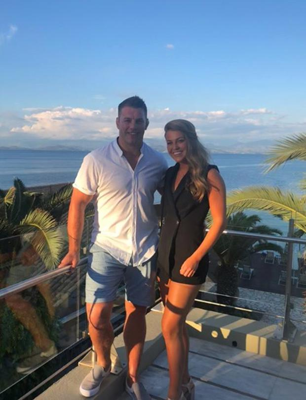 Sean O'Brien on holidays with girlfriend Sarah Rowe. Picture: Instagram