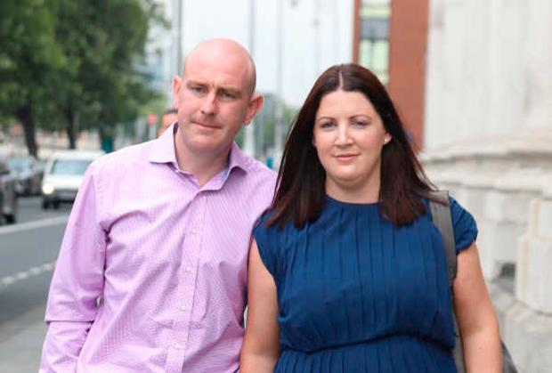 Anthony and Catriona Enright pictured leaving the Four Courts after the High Court approved a €15.5Million settlement offer on behalf of Charlie Enright Pic: Courts