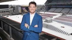 Michael Buble at Croke Park ahead of his concert on Saturday July 7