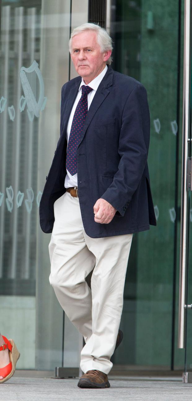 Dr. James Dolan pictured leaving the CCJ today