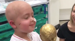 Little Ben is recovering from a brain tumour and his spirits will have been lifted by a message from Harry Kane