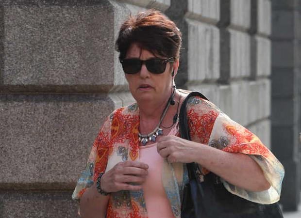 Paula Gallagher (63) leaving the Four Courts Photo: Collins Photos
