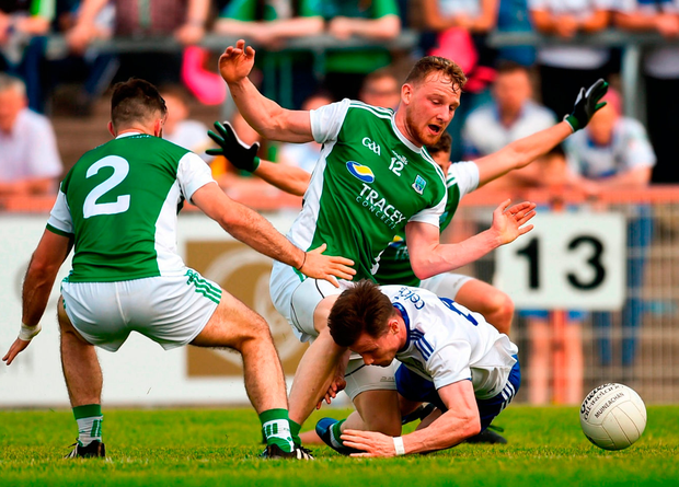 Fermanagh's defensive approach frustrated Monaghan in their Ulster championship clash in June. Photo: Philip Fitzpatrick/Sportsfile