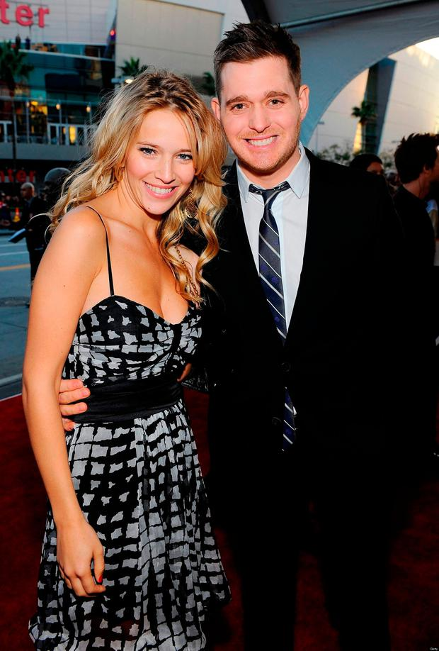 Michael Buble with his wife of seven years, Luisana Lopilato