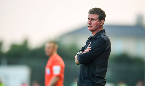 8 June 2018; Dundalk manager Stephen Kenny during the SSE Airtricity League Premier Division match between Dundalk and Limerick at Oriel Park in Dundalk, Louth. Photo by Sam Barnes/Sportsfile