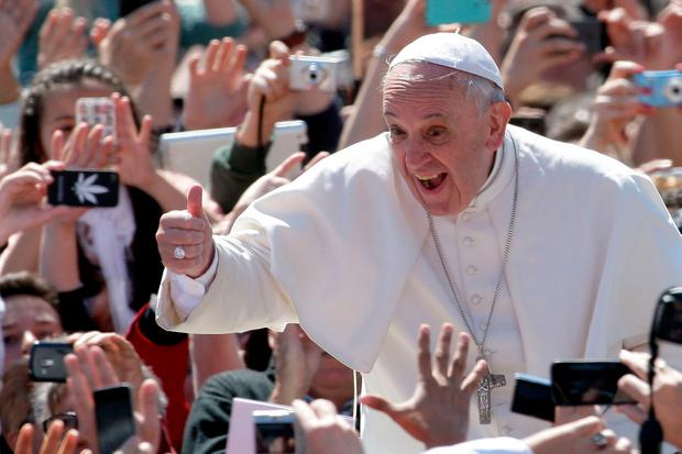 All 45,000 tickets for the Pope's visit to Knock Shrine were booked out within four hours. Photo: Getty