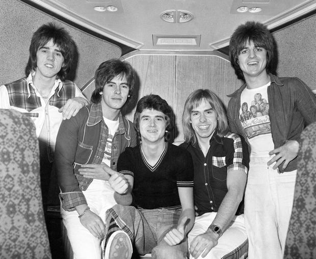 REMEMBER: Rollers Stuart 'Woody' Wood, Alan Longmuir, Les McKeown, Derek Longmuir and Eric Faulkner in 1975. Photo: PA