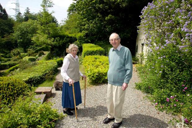 Marriage: Ruth Ross with her husband John in 2004