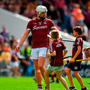Joe Canning of Galway with young fans after beating Kilkenny in this year's Leinster final