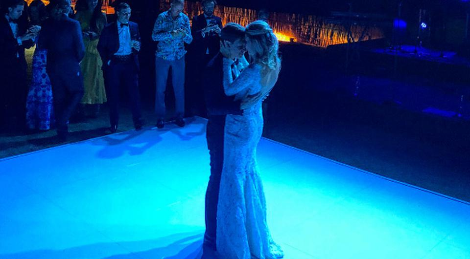 David Clark during his first dance to Lynn Anderson. Picture: Scooter Braun/Instagram
