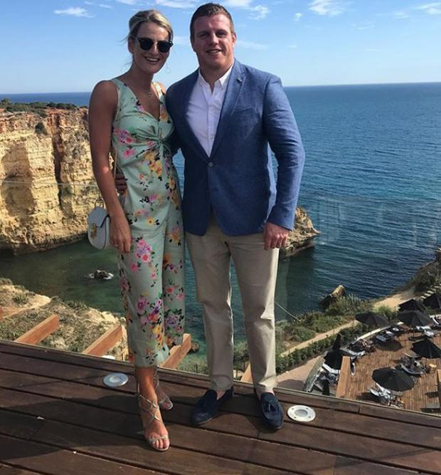 Sean Cronin and wife Claire in Portugal. Picture: Instagram