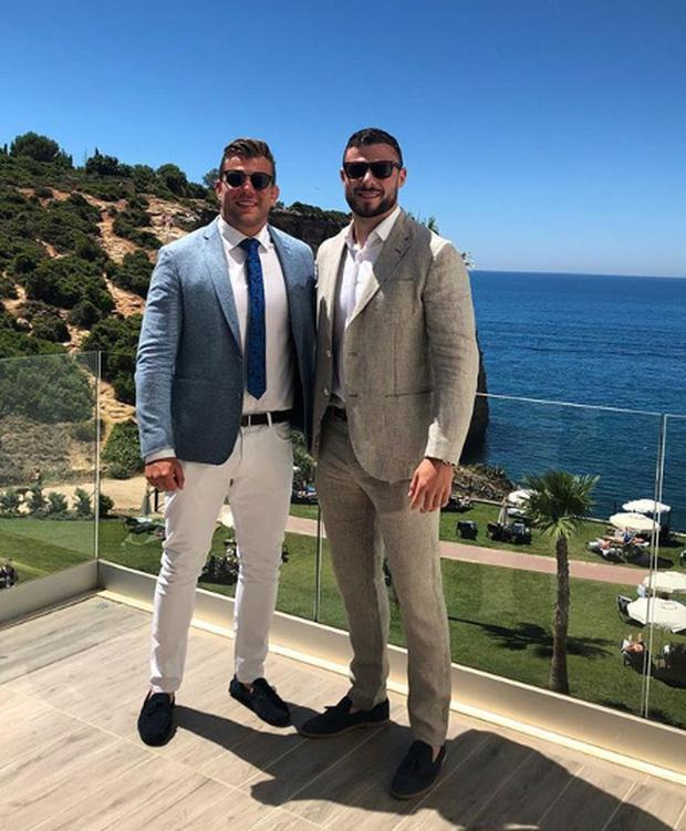 Jordi Murphy and Robbie Henshaw in Portugal. Picture: Instagram