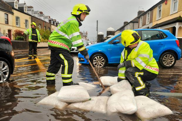 Cork City Fire brigade attend to localised flooding. Pic Daragh Mc Sweeney/Provision