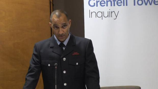 Firefighter Christopher Dorgu gives evidence (Grenfell Tower Inquiry)