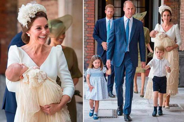 Prince William and Kate Middleton's son Louis christened