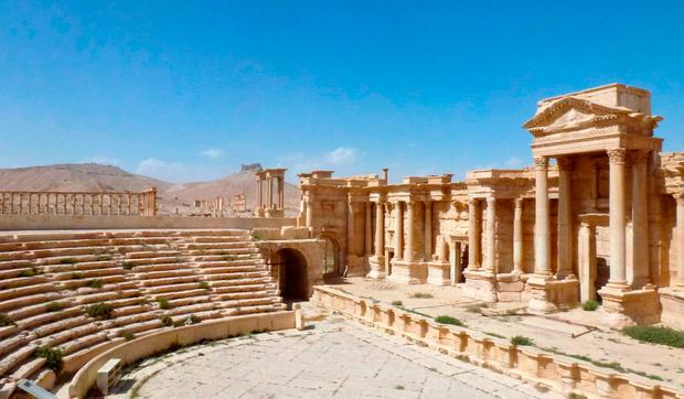 The theatre in the ancient Syrian city of Palmyra, which fell into the hands of the Isil jihadist group until March 2017. Photo: Getty Images