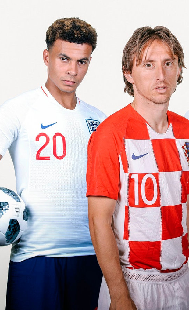 Dele Alli will be hoping to get the better of Luka Modric again when England take on Croatia tomorrow night. Photo: Getty Images
