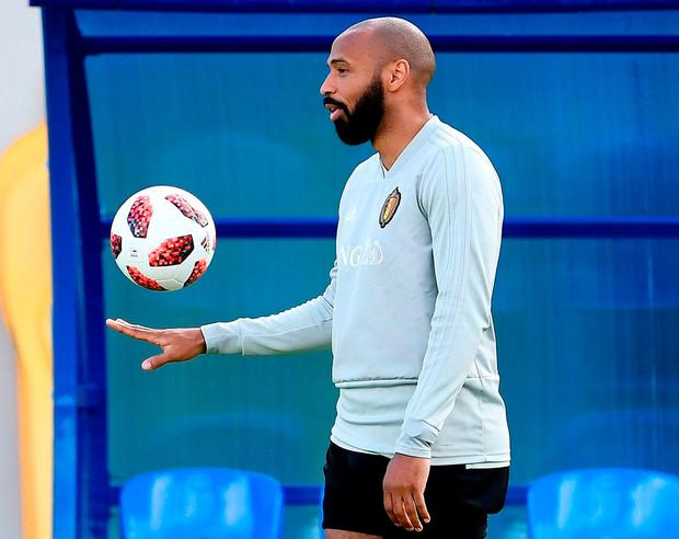 Belgium's assistant coach Thierry Henry. Photo: Franck Fife/AFP/Getty Images