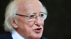 President Michael D Higgins is seeking another term (Brian Lawless/PA)