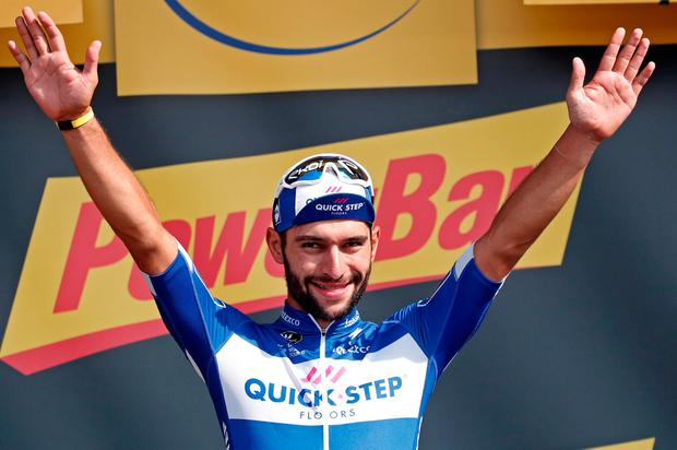 Gaviria again made it appear as though he has been performing on cycling's grandest stage all his life. Photo: Reuters