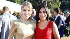 Amy Huberman and Lucy Kennedy at the Garden Party for the Royal Visit in Glencairn, the British Ambassador's Residence