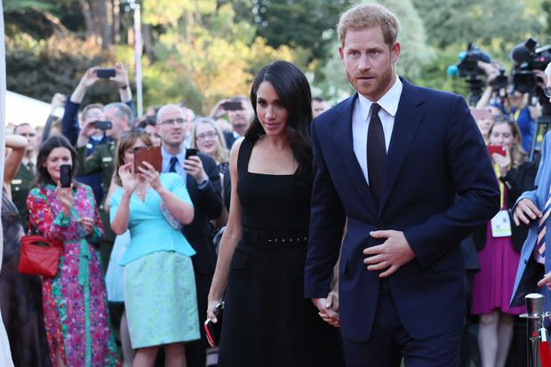 Harry and Meghan attend a Summer Party at the British Ambassador's residence at Glencairn House
