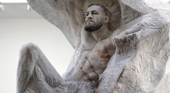 The sculpture of Conor McGregor by Lithuanian-born sculptor Aspencrow for the fighter's 30th birthday