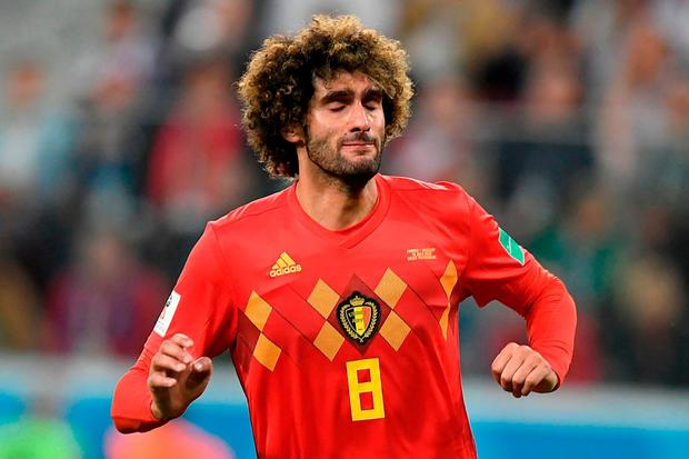 Belgium's midfielder Marouane Fellaini. Photo: Gabriel Bouys/AFP/Getty Images