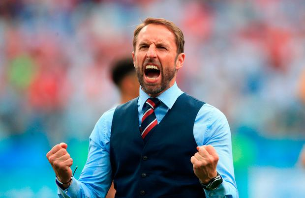 Set-piece of cake: Gareth Southgate has made England a threat from dead balls. Photo: Adam Davy/PA Wire