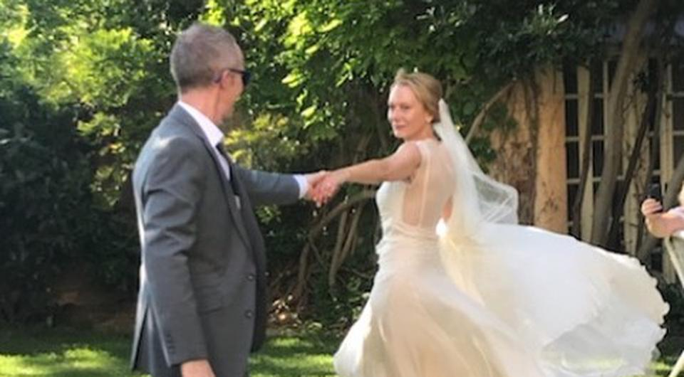 Cathy Belton and Brian Roe tie the knot in France | Photo via Instagram.com / PeterOBrienDesigns
