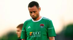 Damien Delaney of Cork City following the UEFA Champions League 1st Qualifying Round First Leg between Cork City and Legia Warsaw at Turner's Cross in Cork. Photo by Eóin Noonan/Sportsfile
