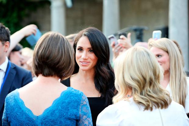 10/07/18. NO FEE. NO REPRO FEE. JULIEN BEHAL PHOTOGRAPHY. Picture shows, H.R.H. The Duchess of Sussex at the Garden Party in Glencairn, the British Ambassador's Residence . JULIEN BEHAL PHOTOGRAPHY. NO FEE.