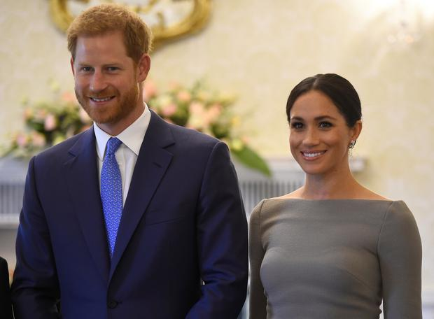 The Duke and Duchess of Sussex went to Aras an Uachtarain (Clodagh Kilcoyne/PA)