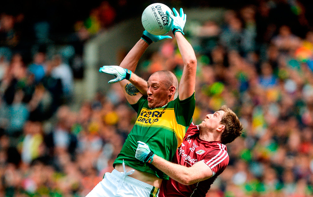 Kerry's Kieran Donaghy, here in action against David Walsh, put paid to Galway chances in last year's All-Ireland quarter-final. Photo: Sportsfile