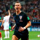 Croatia's Ivan Perisic celebrates