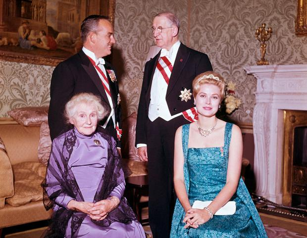 Meet and greet: Prince Rainier and Grace Kelly with Eamon de Valera and his wife Sinead in 1961. Photo: Popperfoto/Getty Images