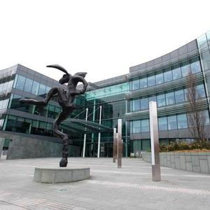 The AIB Bank Centre in Ballsbridge: Siobhan Quinlan has a 50pc stake in the site