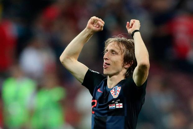Soccer Football - World Cup - Semi Final - Croatia v England - Luzhniki Stadium, Moscow, Russia - July 11, 2018 Croatia's Luka Modric celebrates after the match REUTERS/Carl Recine