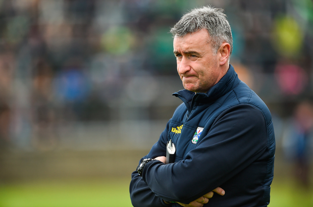 13 May 2018; Cavan Manager Mattie McGleenan during the Ulster GAA Football Senior Championship Preliminary Round match between Donegal and Cavan at Páirc MacCumhaill in Donegal. Photo by Oliver McVeigh/Sportsfile