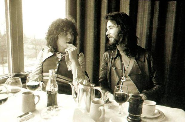 BP Fallon with Marc Bolan in 1971. Photo by Barry Wentze