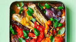 Escalivada: Slow roasted peppers, aubergines and tomatoes with a basil and almond dressing. Photo: David Loftus