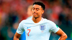 'England's Jesse Lingard doesn't want to get involved in keeping the ball and dominating possession.' Photo: Adam Davy/PA