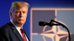 President Donald Trump made clear his deep dissatisfaction with the way Nato was operating. Photo: Reinhard Krause/Reuters