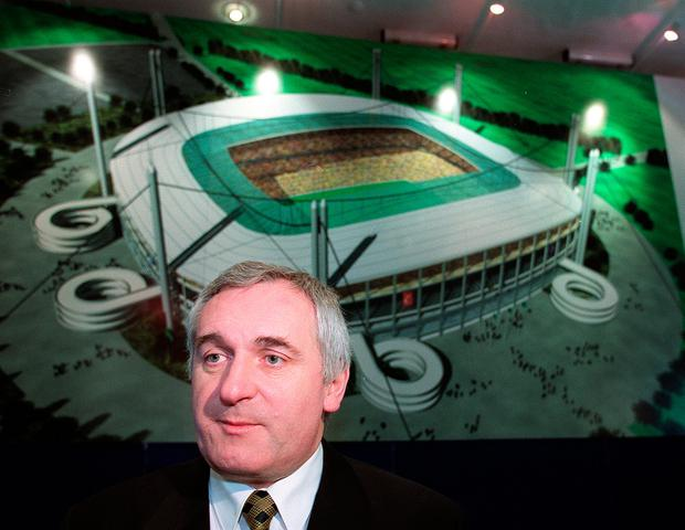 Former Taoiseach Bertie Ahern, after whom the 'Bertie Bowl' was named. Photo: Martin Maher