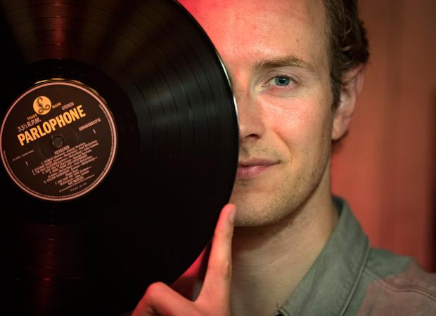 Brand new old sound: Mark Whelan, founder of Vinyl & Wine has been holding listening parties since 2014. Photo: Arthur Carron