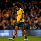 22 November 2014; A dejected Henry Speight, Australia, after the game. Guinness Series, Ireland v Australia. Aviva Stadium, Lansdowne Road, Dublin. Picture credit: Barry Cregg / SPORTSFILE