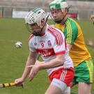Aodhán O'Donnell in action for Derry. Pic: Gerry O'Donnell