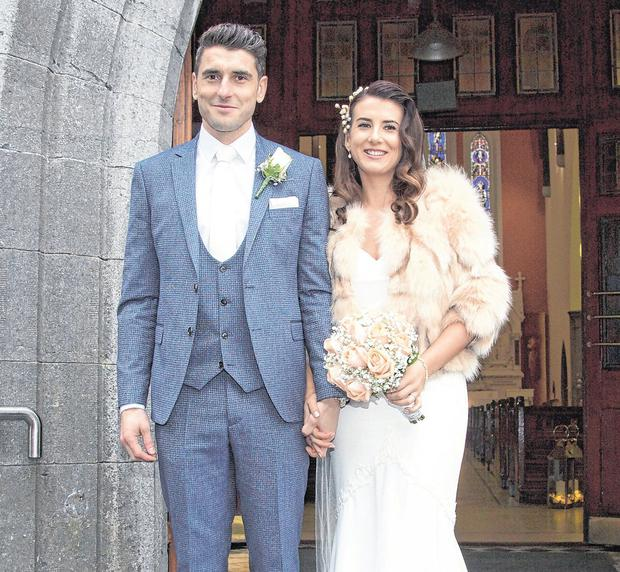Bernard Brogan and Keira Doyle on their wedding day. Photo: Colin O'Riordan